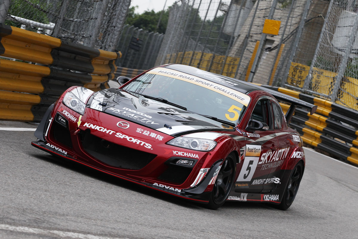 mz racing mazda motorsport knight sports rx 8 misses competing in its 6th macau gp. Black Bedroom Furniture Sets. Home Design Ideas