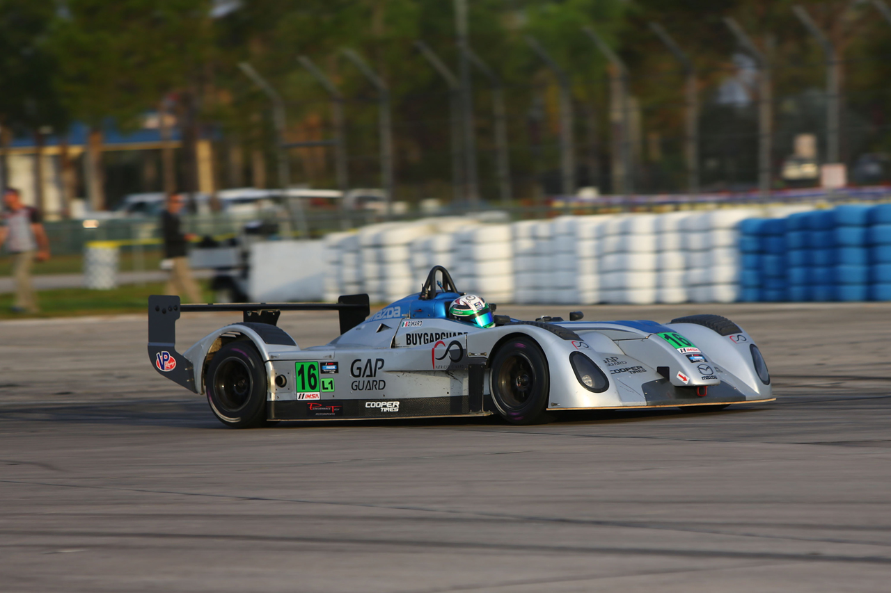 imsa 12 hours of sebring day 2 mazda prototypes qualify