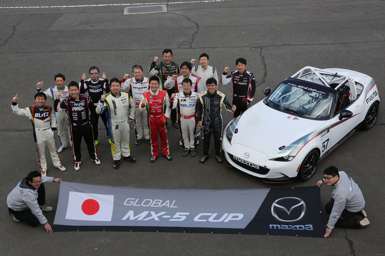 10 Cars Participate in GLOBAL MX-5 Cup Japan Official Test